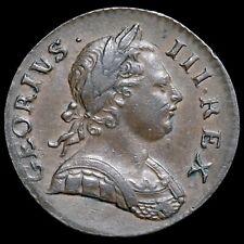 More details for george iii, 1760-1820. halfpenny, 1772. georivs error legend. rare.