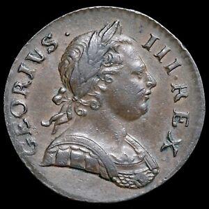 George III, 1760-1820. Halfpenny, 1772. GEORIVS Error Legend. Rare.