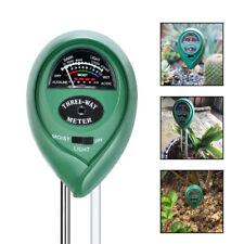 PH Testeur SOL EAU humidité clair Test mètre pour jardin plante à fleur KIT DE 3