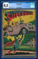 1942 Superman #19 CGC 4.5 D.C. Comics Golden Age