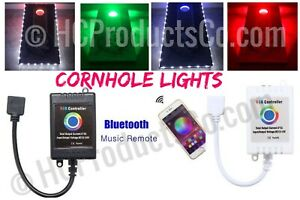Bluetooth Controlled Cornhole Lights with 16 Million Color and Motion Options