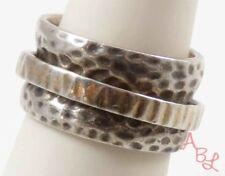 Silpada Sterling Silver Vintage 925 Hammered Spinner Ring Sz 7 (12.3g) - 745909
