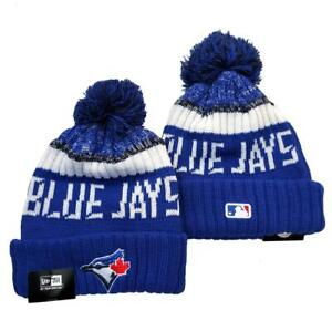 Colorful Pompom Beanie Hat Winter Warm Knit Sports MLB Teams Cap Unisex Adults