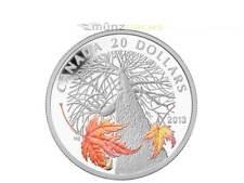 20 $dólares Canadian Maple canopy Autumn arce canadá 1 Oz plata pp 2013