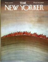 1971 Everything Changes to the Colors of Autumn art Nov 6 New Yorker COVER ONLY