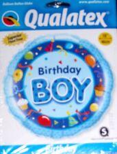 "18"" QUALATEX FOIL BALLOON HAPPY BIRTHDAY BOY CUPCAKES AND BALLOONS"