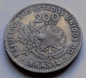 1901 Brazil 200 Reis • Toned *b