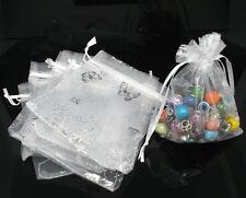 100 premium premium papillon organza cadeau de mariage sacs et sachets 7x9cm