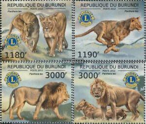 Burundi 2828-2831 MNH 2012 Leo