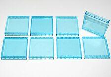 LEGO LOT OF 8 TRANSPARENT BLUE 1 X 6 X 5 PANELS WALLS GLASS PARTS PIECES