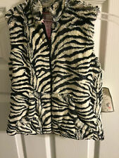 Kids Faux Fur Zebra Vest by Widgeon