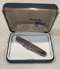 Imperial Sterling Silver 2 Blade Pocket Knife Made in Prov RI