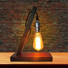Vintage Loft AC 110V/220V Dimmable Wood Table Lamp Light For Living Room Bedroom