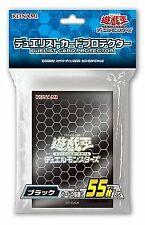 Konami 26287 Yugioh Yu-Gi-Oh Duel Monsters Card Protector Card Sleeve55 Black