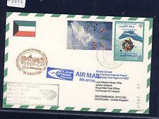 58805) LH FF Frankfurt - Edinburgh GB/UK 28.3.99, Karte card Kuwait R!