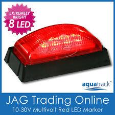 10V-30V 8-LED RED SIDE MARKER LIGHT/CLEARANCE LAMP - Boat/Trailer/Truck/Ute BL