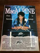 1990 VINTAGE 8X11 PRINT Ad FOR PEAVEY Stereo Chorus 212 Amplifier TONY MacALPINE