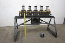 "FABCO-AIR/CUSTOM 80"" 5 Station Pneumatic Press Metal Door Frame Clicker Press"
