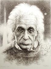 "Robert Katona ""Einstein"" Hand Signed Art Lithograph Print, Artist's Proof, OBO"