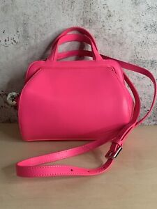 Lulu Guinness Neon Pink Bag With Disco Ball (Q-2)