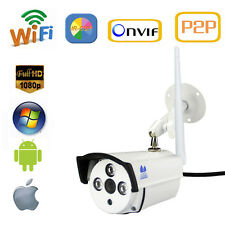 Wireless Wifi Outdoor Network IP Camera Webcam HD IR 1080P 2MP Wide Angle Audio