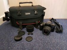 Canon EOS1000F 35mm Camera - Sigma DL Zoom 35-80mm 4-5.6 w/ Hama Case +Accessory
