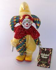 Clown Jester Doll Bisque Porcelain Collectors Choice Handcrafted Special Edition