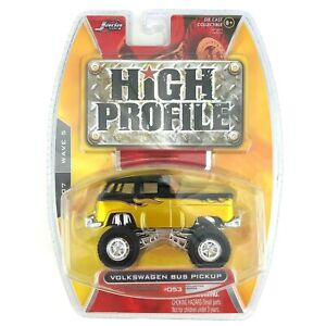 Jada Toys High Profile 1960's Volkswagen VW Bus Pickup Gold Black Diecast 1/64