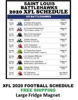 2020 Saint Louis BattleHawks XFL Team Football Schedule