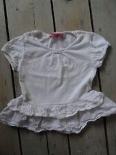 T-shirt manches courtes blanc à volants NKY Taille 5 ans / 110 cm