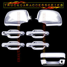 For GMC Canyon 2004-2009 2010 Chrome Covers Set Mirrors+4 Doors+Tailgate KEYHOLE