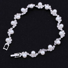 Top High Quality Bangle Artificial pearl Crystal Cuff Elegant Bracelet Jewelry