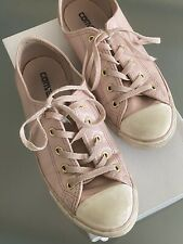 CONVERSE Pink Leather Shoes Size 7 Pre-owned