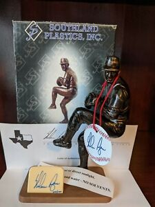 Southland Plastics Nolan Ryan Baseball Statue LE 304/1K Autographed Signed Auto