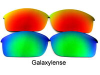 Galaxy Replacement Lenses For Oakley Flak Jacket Sunglasses Green&Red