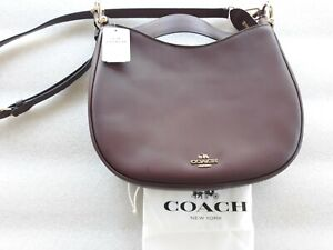 COACH Nomad Mae Leather Crossbody Oxblood MSRP $395 New with defect.