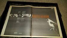 U2 Rattle And Hum Rare Original Radio Promo Poster Ad Framed!