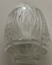 "Vintage Clear Glass Bird Feeder / Water Holder Marked Usa 2 3/4"" Tall"