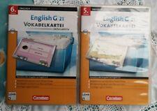 2x Cornelsen Lernsoftware Englisch G21 Vokabelkartei 5 & 6 Klasse