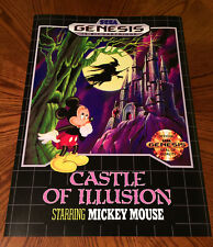 Castle of Illusion Starring Mickey Mouse Sega Genesis box art video game poster