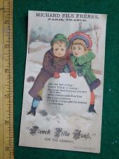 1870s-80s Charles Gardner Confectionery French Villa Soap Snow Trade Card F35