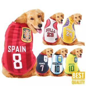 Dog Cat Pet  Clothes Mesh Waistcoat, World Cup Soccer Uniform Basketball Wear