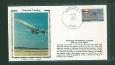 USA - Concorde Unscheduled Landing Newark 1977 Silk Cachet