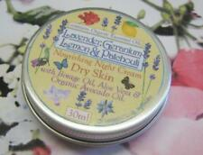 30ml tin Organic Ess Oil FaceCream, Lavender, Geranium, Lemon, Patchouli.Avocado