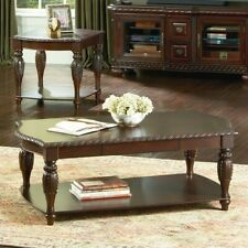 Steve Silver Antoinette Rectangular Wood Coffee Table in Mahogany and Cherry
