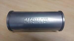 "MRC Pacemaker Stainless 2.5"" slimline double skinned straight muffler resonator"
