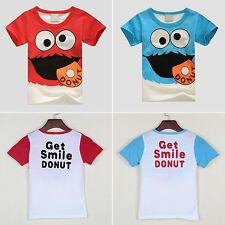 Enfants Garçons Tout-Petit Dessin Animé T-Shirt Col Rond Manches Courtes T-Shirt