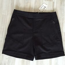 NWT Helmut Lang Black Stretch-wool Shorts size 6 $290