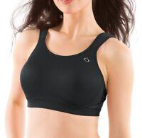 Moving Comfort 174225 Womens Underwire Medium Impact Sports Bra Black Size 32D