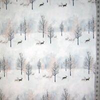 Christmas Fabric - Winter Shimmer Blue White Tree Stripe - Robert Kaufman YARD